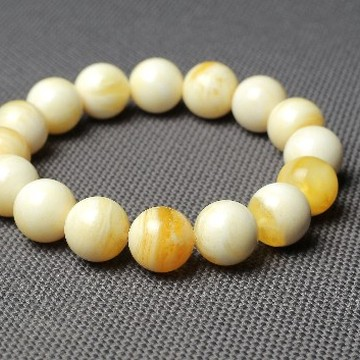 Butterscotch Amber Bracelet with 13 mm Amber Beads, Natural Baltic Amber Bracelet 20 grams