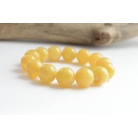 Butterscotch Baltic Amber Bracelet 15mm Beads Perfectly polished 27g Bracelet Handmade Wristbracelet