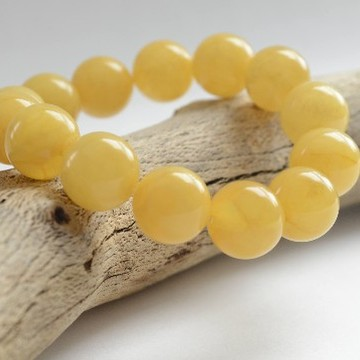 Butterscotch Baltic Amber Bracelet 16 mm Beads Perfectly polished 31 g Bracelet Handmade Wristbracelet