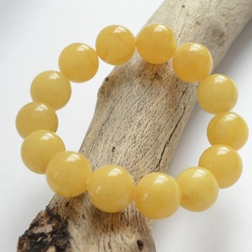 Butterscotch Baltic Amber Bracelet 15mm Beads Perfectly polished 27g Bracelet Handmade Wristbracelet
