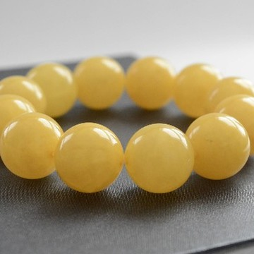 Baltic Amber Bracelet 18.5mm Perfectly polished Beads 42g Butterscotch Bracelet Handmade Jewelry