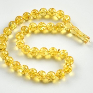 Tasbih Rosary of Baltic Amber Massive 14 mm Beads 57 g Yellow Amber Islamic Misbaha