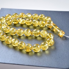 Tasbih Rosary of Baltic Amber Massive 14 mm Beads 57 g Yellow Amber Islamic Misbaha