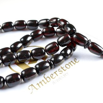 Red Cherry color Baltic Amber Islamic Prayer Beads 62.5 grams 17 x 13 mm