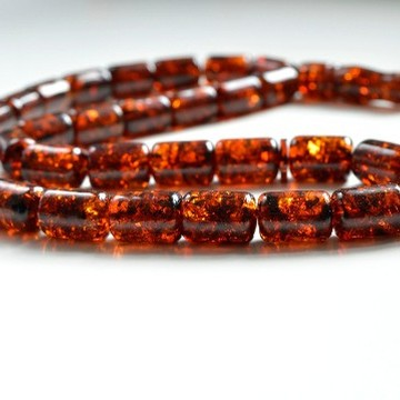 Red Cherry color Baltic Amber Islamic Prayer Beads 81 g 18 x 13 mm Deep Tea rosary