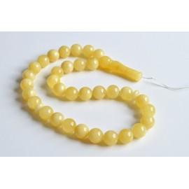 Intense Milky White Misbaha Rosary Prayer, Pure 33 Baltic Amber Islamic Worry Beads 45 g 13 mm