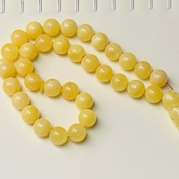 Intense Milky White Misbaha Rosary Prayer, Pure 33 Baltic Amber Islamic Worry Beads 52 g 14 mm