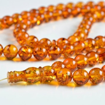 Butterscotch Baltic Amber Prayer Beads 23.7 grams