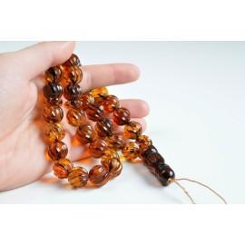 Butterscotch Baltic Amber Prayer Beads 23.7 grams