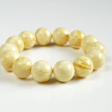 Butterscotch Amber Bracelet with 22 mm Amber Beads, Natural Baltic Amber Bracelet