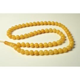 Baltic Amber Tespih Butterscotch Egg Yolk Color Misbaha 66 Beads 12 mm 65.5 g