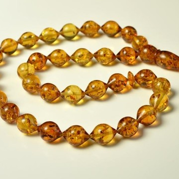 Olive Baltic Amber Beads Islamic Koran Prayer Beads 33 Amber Beads Gold Amber Color 53 gram