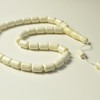 White Amber Barrel Beads,...