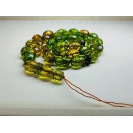 أخضر جرام مسبحة  الصلاة 46.5  عنبر البلطيق