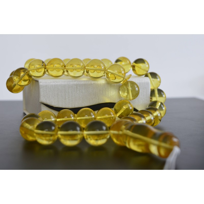 Lemon Baltic Amber Prayer Beads 72 grams