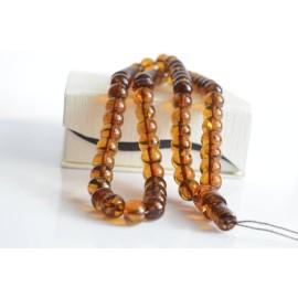 Cognac with Shell Baltic Amber Prayer Beads 35 grams