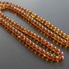 Cognac with Shell Baltic Amber Prayer Beads 53.60 grams