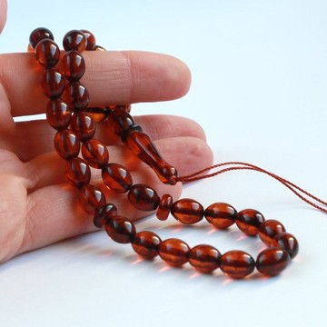 Orange Amber Misbaha Rosary...