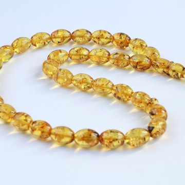 Yellow Amber Misbaha Rosary 33 Baltic Amber Olive Beads 14.5 x 10.5 mm 33 Worry Beads 31.5 g