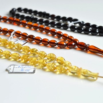 Set of Three Amber Misbaha...
