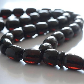Red Cherry Baltic Amber Prayer Beads 62.35 grams