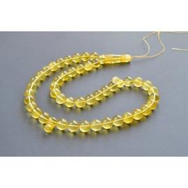 Tasbih Rosary of Baltic Amber Massive 13 mm 45 Beads 64 g Yellow Amber Islamic Misbaha
