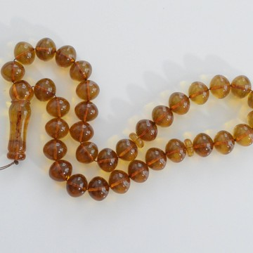 Cognac Baltic Amber Prayer Beads 51.45 grams