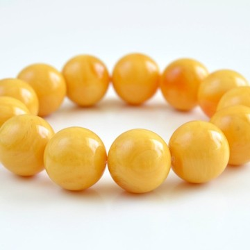 18.5 mm Butterscotch Baltic Amber Bracelet Pure Amber (no addons) Handmade Jewelry