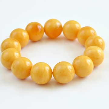White-Yellow Amber Beads 18 mm Genuine Baltic Amber Bracelet Marble Amber Beaded Bracelet Huge Amber Beads Unisex Amber Jewelry