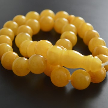 Butterscotch Baltic Amber Prayer Beads 43.45 grams