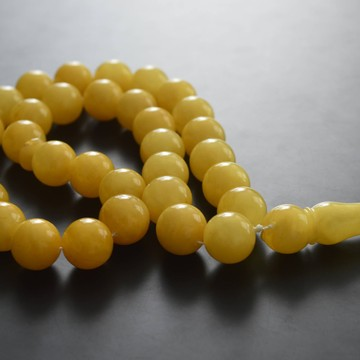 Butterscotch Baltic Amber Prayer Beads 61.25 grams