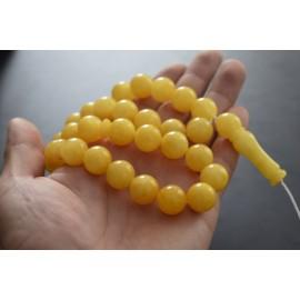 Butterscotch Baltic Amber Prayer Beads 61.25 grams