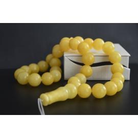 Light Butterscotch Baltic Amber Prayer Beads 113.20 grams