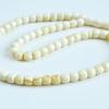 White Amber Barrel Beads,...