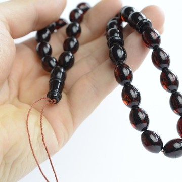 Red Cherry Baltic Amber Prayer Beads 20.60 grams