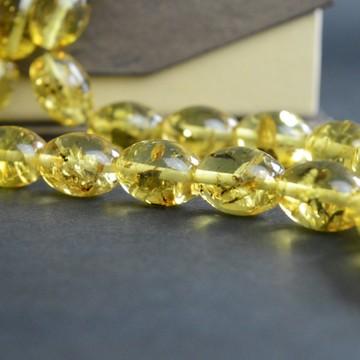 Light Tea / Lemon Baltic Amber Prayer Beads 29.60 grams