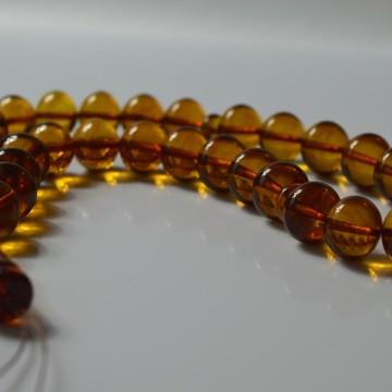 Cognac Baltic Amber Prayer Beads 51.15 grams