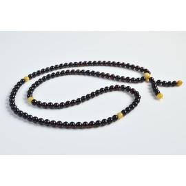 Mala Japa Meditative Rosary of Baltic Amber 19.5 g cherry color 6.5 mm prayer beads