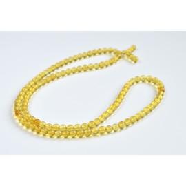 Mila Mala Rosary 7 mm Egg Yolk Cognac Yellow Buddhist Prayer Beads Baltic Amber