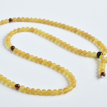 Mila Mala Rosary 6 mm Egg Yolk Cognac Yellow Buddhist Prayer Beads Baltic Amber