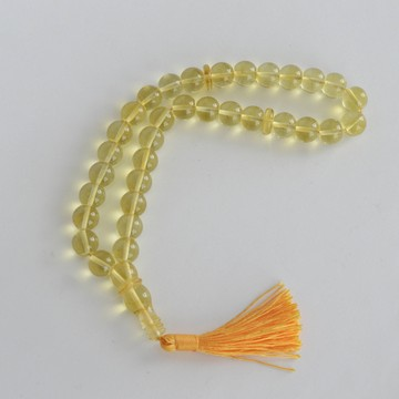 Lemon Baltic Amber Prayer Beads 20.10 grams