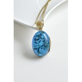 Natural Blue Baltic Amber...