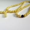 Egg Yolk / Milky White / Red Cherry Baltic Amber Buddhist Prayer Beads 50 grams