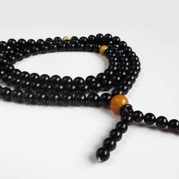 Red Cherry / Yellow Baltic Amber Buddhist Prayer Beads 58.50 grams