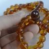 Cognac / Red Cherry Baltic Amber Buddhist Prayer Beads 111.25 grams