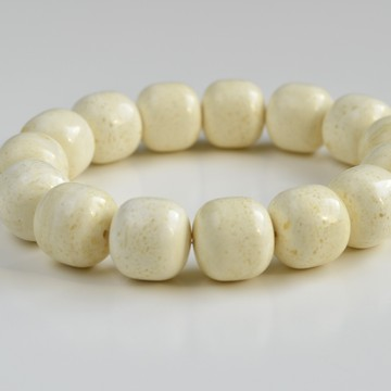 White Baltic Amber Bracelet...