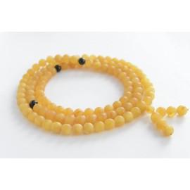 Dark Honey / Red Cherry Baltic Amber Buddhist Prayer Beads 48.80 grams