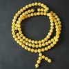 Butterscotch / Red Cherry Baltic Amber Buddhist Prayer Beads 38.75 grams