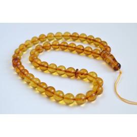 Orange Natural Amber Round...