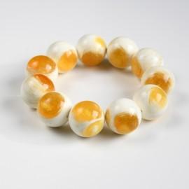 White Baltic Amber Bracelet...